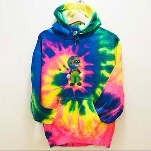 Fluorescent tie dye hoodie